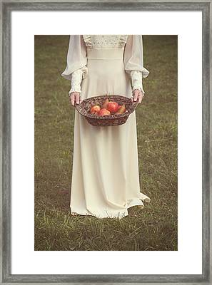 Basket With Fruits Framed Print by Joana Kruse