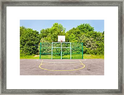 Basketball Court Framed Print by Tom Gowanlock