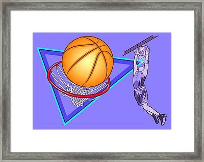 Basketball Framed Print by Erasmo Hernandez
