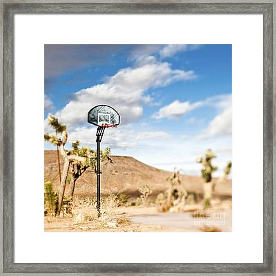 Basketball Hoop Framed Print by Eddy Joaquim