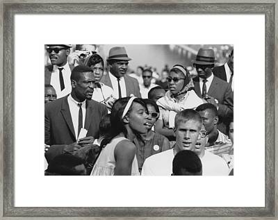 Basketball Player, Bill Russell Left Framed Print by Everett