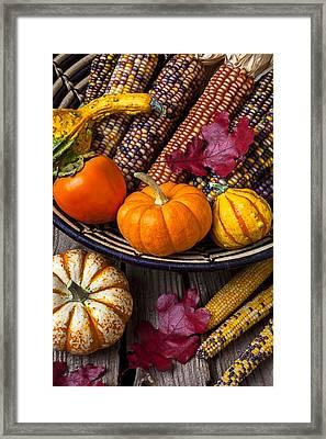 Basketful Of Autumn Framed Print by Garry Gay