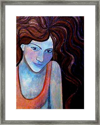 Framed Print featuring the painting Basking-distorted by Monica Furlow