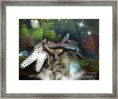 Basking In The Moonlight Framed Print
