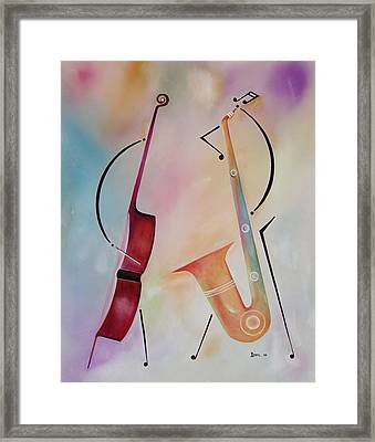 Bass And Sax Framed Print