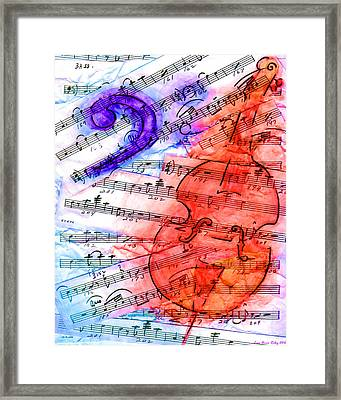 Bass Cut Sheet Framed Print by Lisa A Bello