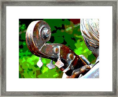 Bass Fiddle Framed Print by Charlie and Norma Brock