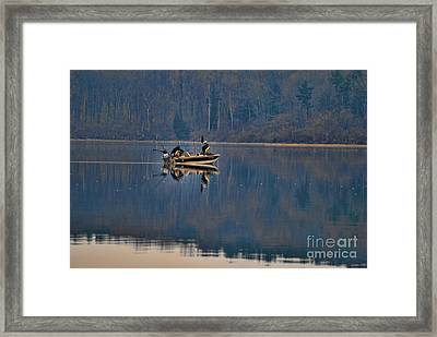 Bass Fishing Framed Print by Paul Ward