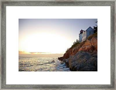 Bass Harbor Light, Low Angle View Framed Print by Thomas Northcut