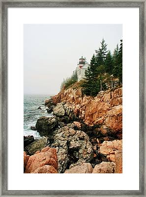 Framed Print featuring the photograph Bass Harbor Light by Mary Hershberger