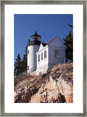 Bass Harbor Lighthouse Acadia National Park Framed Print by Glenn Gordon