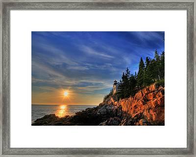 Bass Harbor Lighthouse Framed Print