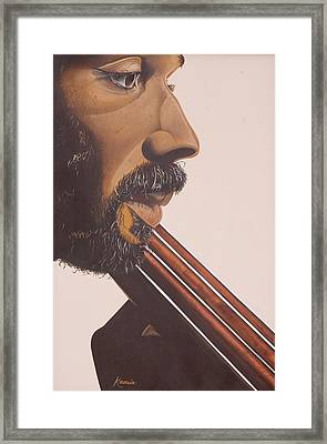 Bass Player Iv Framed Print by Kaaria Mucherera