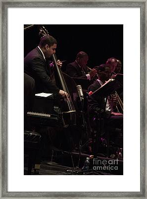 Bass Player Jams Jazz Framed Print