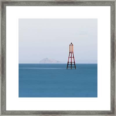 Bass Rock From Fife Framed Print