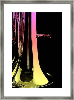 Bass Tuba Isolated On Black Framed Print by M K  Miller