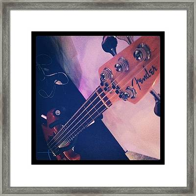 Bassist Framed Print