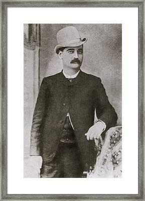 Bat Masterson 1853-1921, Sheriff Framed Print by Everett