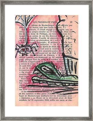 Bataille Framed Print by Jera Sky