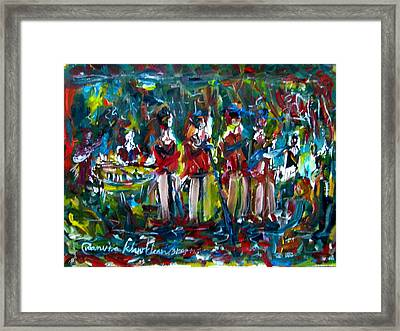 Batak Music And Dance By The Band Samosir Cottage Dance Framed Print