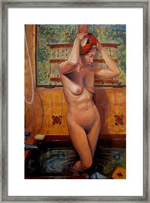 Bath 1 Framed Print by Donelli  DiMaria