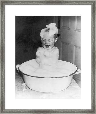 Bath Bliss Framed Print