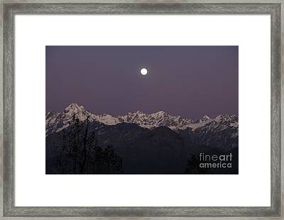 Framed Print featuring the photograph Bathed In Moonlight by Fotosas Photography
