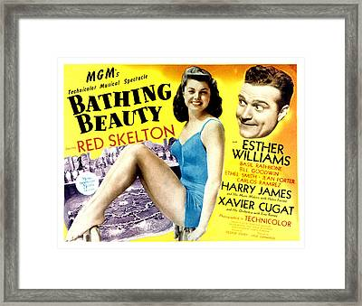Bathing Beauty, Esther Williams, Red Framed Print by Everett