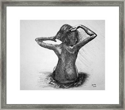 Bathing Framed Print