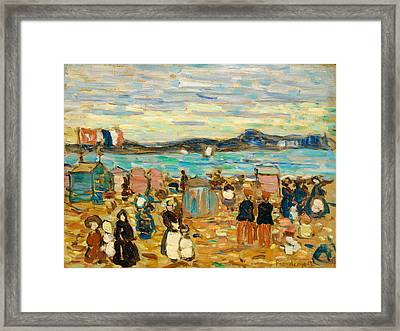 Bathing Tents St. Malo Framed Print
