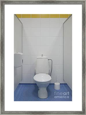 Bathroom Stall Framed Print by Jaak Nilson