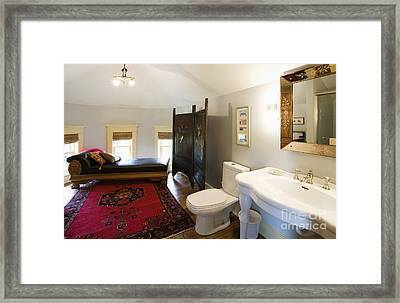 Bathroom With Sitting Area Framed Print by Andersen Ross