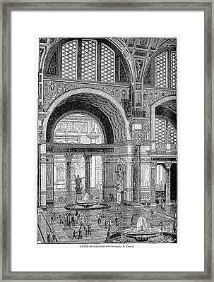 Baths Of Caracalla, Rome Framed Print by Granger