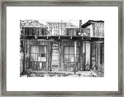 Baths Twenty Five Cents Bw Framed Print by James BO  Insogna