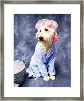 Bathtime For Kati Framed Print by Trudy Wilkerson