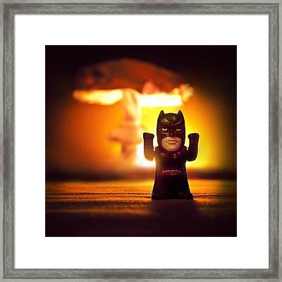 Batman Framed Print by Daria Curvehand