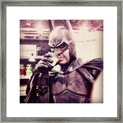 Batman Really Let Himself Go... #batman Framed Print