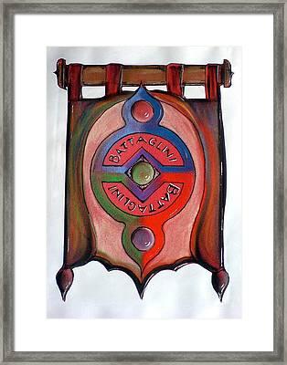 Battaglini Family Crest Framed Print