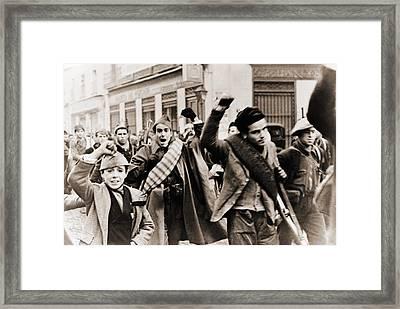Battalion Of Republican Anti-franco Framed Print by Everett