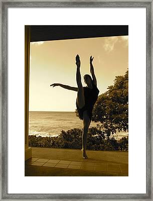 Battement On Shore Framed Print by Lena Ulses