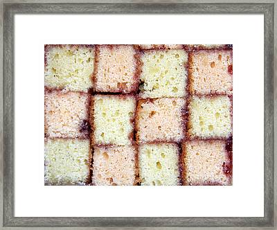Battenburg Cake Framed Print by Jane Rix