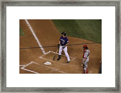 Batter Up Framed Print by Cynthia  Cox Cottam