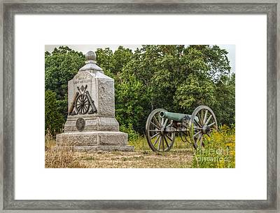 Battery D 1st Ny Light Artillery At Gettysburg Framed Print by Randy Steele