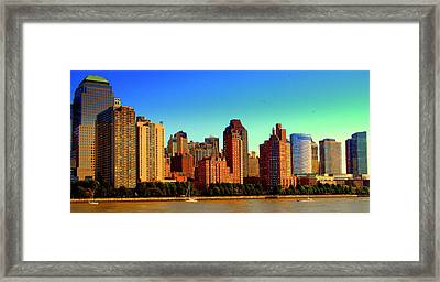 Battery Park City New York Ny Framed Print by Aron Chervin