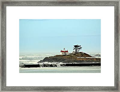 Framed Print featuring the photograph Battery Point Lighthouse II by Jo Sheehan