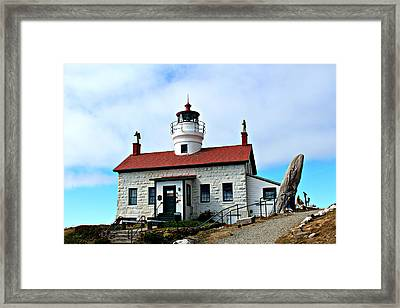 Framed Print featuring the photograph Battery Point Lighthouse by Jo Sheehan