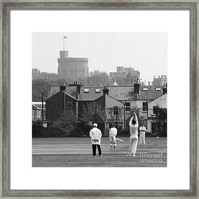 Batting For England Framed Print by Gordon Wood