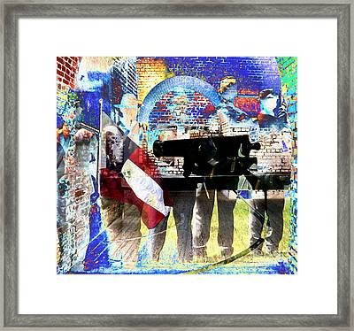 Battle Abstract Framed Print by Patricia Januszkiewicz