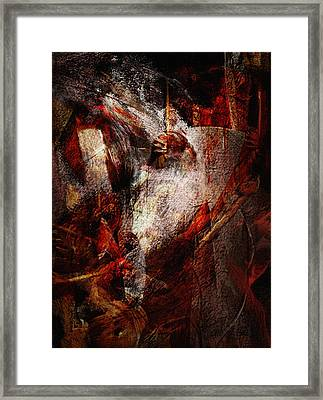 Battle Clash Framed Print by Jean Moore