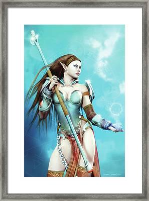Battle Mage Framed Print by Melissa Krauss
